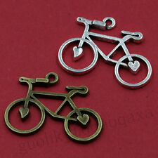 10/50pcs Exquisite Alloy Retro Style Fashion Bicycle Charm Pendant 20X31MM