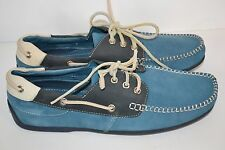 Sebago Men's VERONA BLUE SUEDE LEATHER BOAT MOCCASINS LOAFER SHOES SZ 8 NEW
