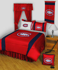 MONTREAL CANADIENS SIDELINES COMFORTER, SHEET SET, PILLOW SHAM