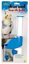 JW Pet Clean Seed Silo Bird Seed Feeders and Waterers