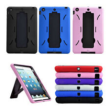 Rubber Shock Proof Heavy Duty Kickstand Hard Case Cover for Apple iPad Mini