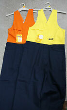 Overalls Hi Vis Action Back BISLEY Yellow Navy Orange Nav FREE PICK UP AVAILABLE