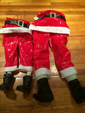Santa Clause legs half body christmas decorations Xmas chimney Father Christmas
