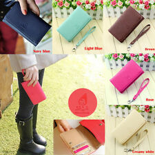 Fad Women's Wallet Leather Purse Case Cover For Samsung I9100 9300 iPhone 4S US