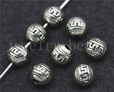 New 15/60/300pcs Tibetan Silver Beautiful spherosome Charms Spacer Beads DIY 6mm