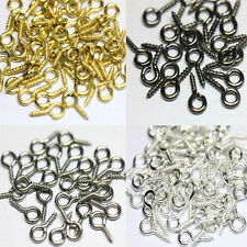 Hot 200pcs Small Tiny Screw Eye Pin Peg Tail Fit Jewelry Making Findings 10x5mm