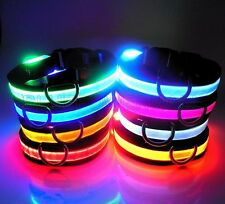 Pet Dog Led Collars For Dogs Pets Cats Safety Collars Adjustable Flashing Night