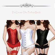 Womens Sexy Lingerie Boned Lace Up Corset Bustier G-String Slim Evening Party US