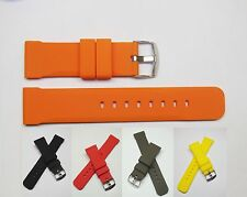 Grey Yellow Red Black Orange Silicon Replacement Watch Band | Fits 24mm Invicta