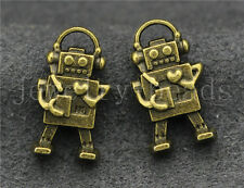 New 10/40/200pcs Antique Bronze Lovely Music robot Charms Pendant Craft 17x10mm