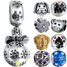 European Charms Cartoon Beads Fit 925 Sterling Silver Bracelet 3mm Chains