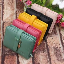 Lady Womens fashion Lovely PU Card Holder Purse Clutch Wallet Short Small Bag