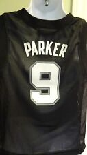 NWT NBA San Antonio Spurs Tony Parker Black Youth Replica Jersey: Large (14/16)