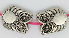 New 15/60/300pcs Antique Silver two-sided Owl Jewelry Charms Spacer Beads 10x8mm