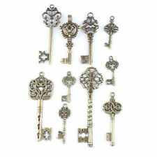 Vintage Bronze Tone Key Charms Alloy Pendants Findings Jewelry Making Crafts D