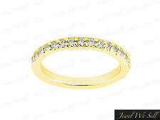 Genuine .70Ct Round Brilliant Diamond Pave Set Eternity Band Ring 14K Gold G SI1