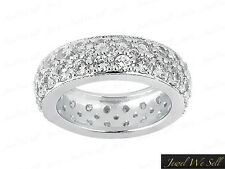Genuine 2.75Ct Round Brilliant Cut Diamond Eternity Band Ring 14K Gold G-H I1