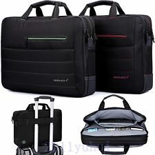 """17.3"""" 15.6"""" WIDESCREEN PADDED LAPTOP BAG NOTEBOOK CARRY CASE SHOULDER STRAP BRIE"""