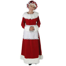 ZooBoo Santa fancy Dress Women's Luxury Velvet Santa Claus Costume XMAS Suit