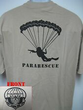 PARARESCUE T-SHIRT/ AIRFORCE/ PJ/ MILITARY/ PARACHUTIST T-SHIRT/ USAF/ NEW