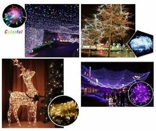 10-200 1M-20M Christmas Wedding Xmas Party Decor Outdoor Fairy String Light Lamp