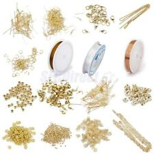 Large Jewelry Making Starter kit DIY Findings Wire Cord Chain Crimp Beads Spacer
