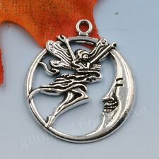 10/50pcs Tibetan Silver Chinese mythology Moon Angel Charm Pendant 29X27MM