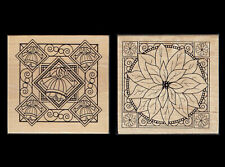 Papermania Lge 9x9cm Wood Mounted Rubber Stamp Multi-Listing CHRISTMAS Designs