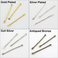 60 New Connectors 1-1 Long Straight Links 2x30mm Gold Dull Silver Bronze Plated