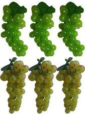 6 or 10 Bunches of Artificial Grapes, Luscious Fake Faux Fruit, USA Seller-NEW