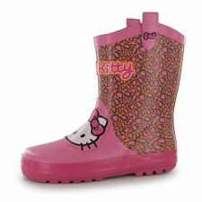 Hello Kitty Wellies Wellington Rubber Snow Printed Boots Girls Childrens