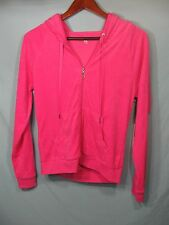 NWT Juicy Couture Pink Women's Velour Feel Hoodie Icy Juicy Couture with Crown
