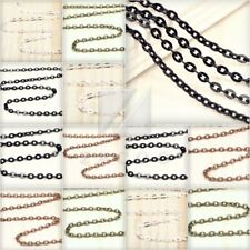 4/12/20m Flat Cable Chain Unfinished Chain Necklace 3.25mm 3.8mm 4.2mm