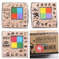 SANRIO HELLO KITTY MY MELODY RB 17PC WOOD STAMPS SET WITH COLORS INK PADS