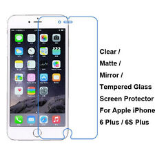 "Tempered Glass/Clear/Matte/Mirror Film Screen Protector Fr 5.5"" iPhone 6 6S Plus"