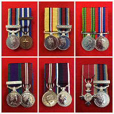 Quality 2 x Miniature Medal Group Court Mounted Miniature Medals Ready To Wear