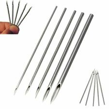 10Pcs Navel Nose Lip Ear Piercing Needles Tattoo Surgical Steel 12,14,16,18,20G