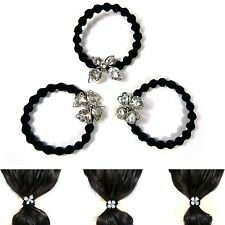 Lovely Crystal Ponytail Holder Hair Tie Rope Accessory Elastic Bracelet Band New