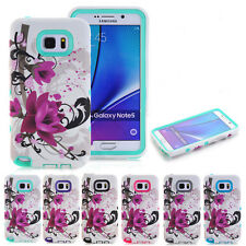 Lotus Shockproof Rugged Hybrid Rubber Hard Cover Case For Samsung Galaxy Note 5