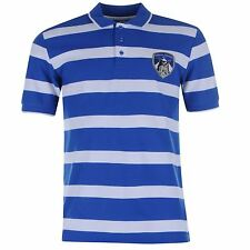 Team Oldham Athletic Stripe Polo Shirt SS Football Mens Gents