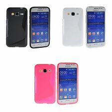 SAMSUNG GALAXY CORE PRIME G360 S-LINE SILICONE GEL CASE AND SCREEN PROTECTOR