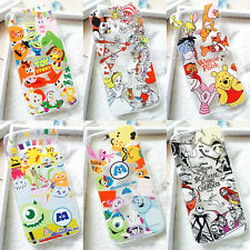 Cute Cartoon Crystal Clear Hard PC & Soft TPU Case Cover for iPhone 6 6S Plus