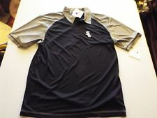 Chicago White Sox Men's Synthetic Polo T-Shirt Black/Grey Nwt Sz Large