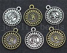 15/60/300pcs Tibetan Silver Beautiful Circular Logo Charms Pendant Craft 16x13mm