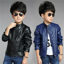 NEW Children Fashion Outerwears Baby Boys Coats Faux Leather Motorcle Jackets