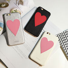 New Cute Lovely Heart Leather Hard Case Cover Skin For iPhone 6 6s 7 Plus