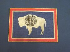 United States of America Wyoming State Flag Embroidered Iron On Patch