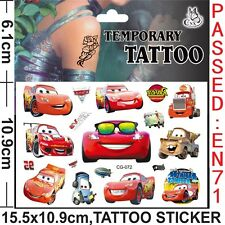 Kids Temporary Tattoos Stickers Cars Body Art Removable Waterproof Party Favours