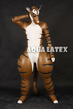 Metallic Gold Rubber Latex Inflatable Pet Fashion Latex Costume for Cosplay