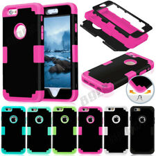 Armor Silicone Glossy Matte Hard Combo Tough Case Cover For iPhone 5S SE 5C 6 6S